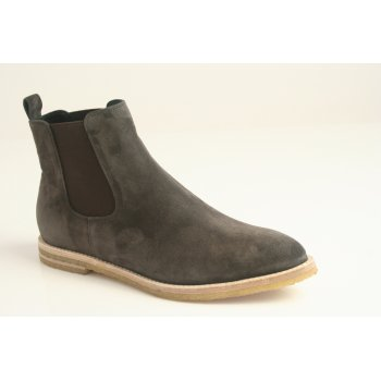 Kennel & Schmenger brown suede leather chelsea boot with elasticated panels and contrast stitched sole