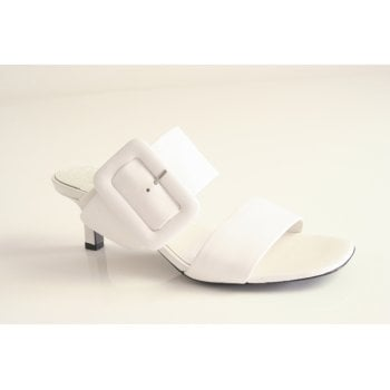 Kennel & Schmenger Kennel and Schmenger white sandal with two straps and a kitten heel.  (NT5)