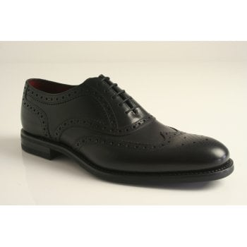 Loake design 'Kerridge' black high grade leather brogue with a full leather insock and lining