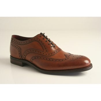 Loake design 'Kerridge' dark tan high grade leather brogue with a full leather insock and lining