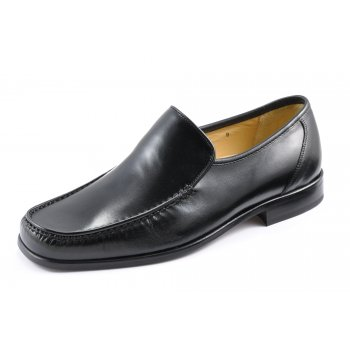 Loake Sienna Black nappa leather moccasin with leather sole and full leather lining
