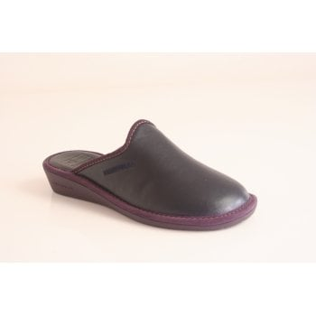 Nordika's Nordika style 347/8 mule slipper in soft navy leather   (NT2)