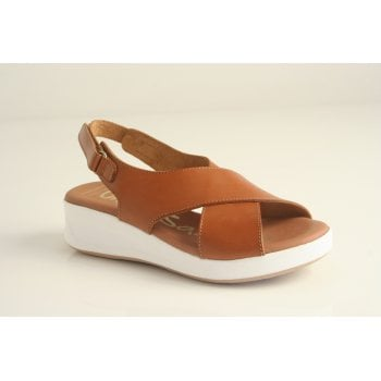 Oh! My Sandals Oh! My Sandal Tan leather sling back sandal (NT2)