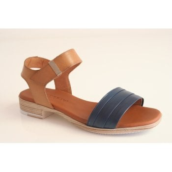 Paula Urban navy and tan leather sandal (NT4)