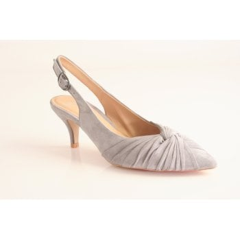 Perlato grey suede leather sling-back   (NT21)