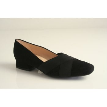 Peter Kaiser black suede leather shoe  (NT70)
