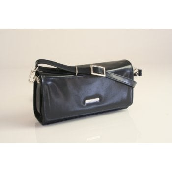 "Peter Kaiser handbag design ""Lanelle"" with detachable shoulder strap in navy chevro"