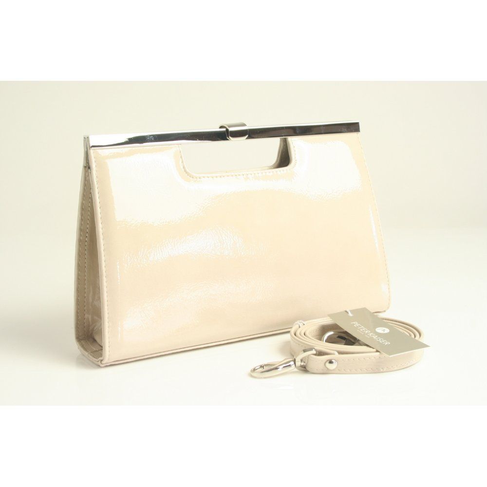 Peter Kaiser Wye   Womens Evening Bag in Beige Sand Nude Leather
