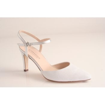 Peter Kaiser style 'Eyrina' white and silver leather shoe (NT69)
