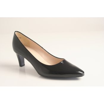 "Peter Kaiser style ""Malia"" black patent leather court shoe with leather lining"