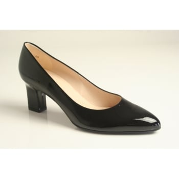 Peter Kaiser style 'Margarete' black patent leather court shoe