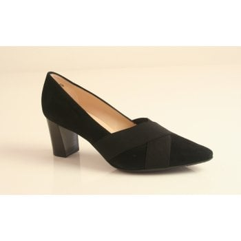 """Peter Kaiser style """"Mea"""" in black suede leather (NT75)"""