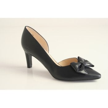 Peter Kaiser style 'Rosella' leather court shoe in navy (NT49)