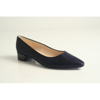 "Peter Kaiser style ""Sita"" in navy print leather  (NT3)"