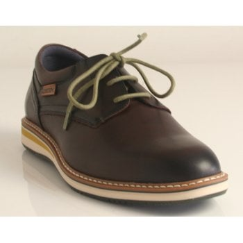 Pikolinos 'Avila' Olmo Deep Brown Calfskin Leather Lace-Up Shoe (NT3)