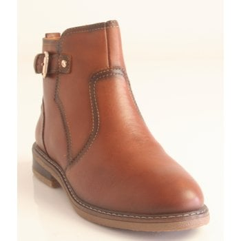Pikolinos Cuero Tan Leather Zip-Up Boots (NT29)