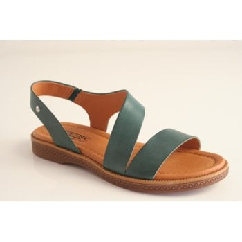 Pikolinos emerald green leather sandal (NT10)