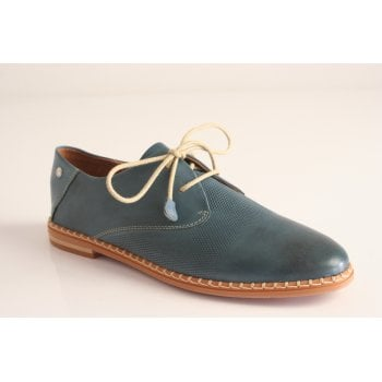 Pikolinos leather lace up shoe in sapphire (NT4)