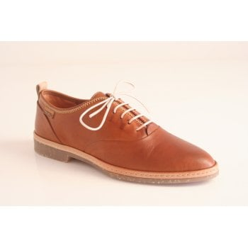"Pikolinos ""Santander"" brandy tan leather lace-up shoe   (NT24)"