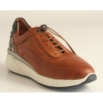 """Pikolinos """"Sella"""" trainer style shoe in sapphire Brandy Leather  (NT35)"""