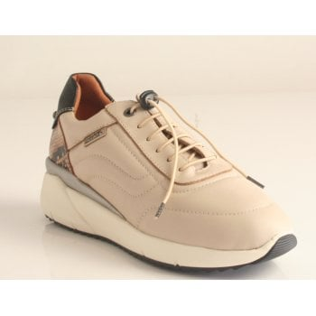 """Pikolinos """"Sella"""" trainer style shoe in sapphire Marfil Leather  (NT34)"""