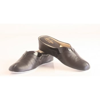 Relax style 3131 Leather slipper in black (NT5)