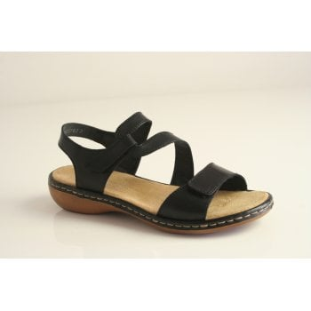 Rieker black leather sandal  (NT28)