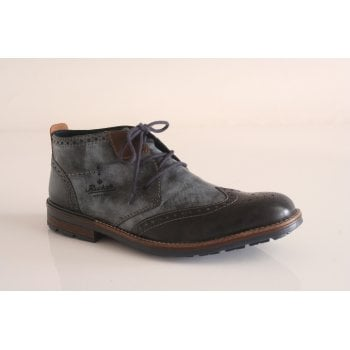 Rieker blue lace-up boot (NT51)