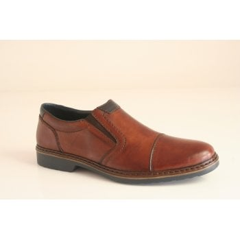Rieker brown leather slip-on shoe (NT46)