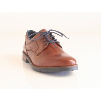 Rieker Mens Brown Leather Lace-Up Shoe (NT23)