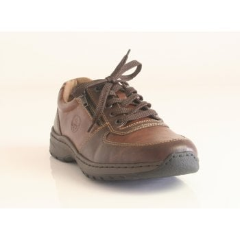 Rieker Mens Brown Zip/Lace-Up Casual Shoes (NT 21)