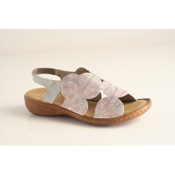 Rieker multi coloured sandal with velcro fastening   (NT19)