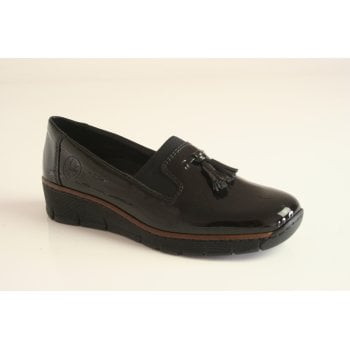 Rieker slip-on black shoe (NT50)