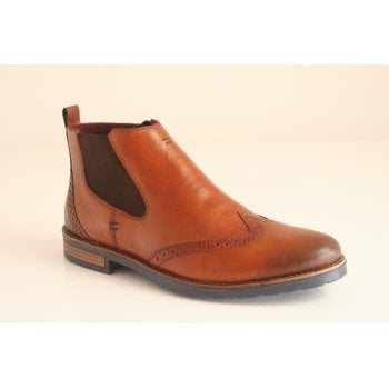 Rieker tan leather chelsea boot   (NT49)