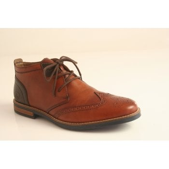Rieker tan leather lace-up boot (NT54)