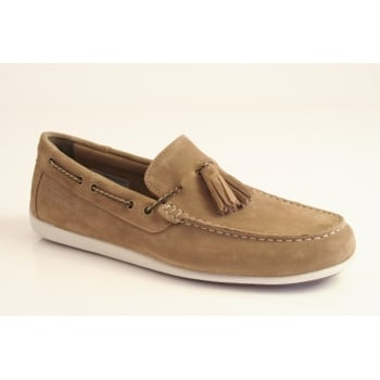 "Rockport style ""BL4 Tassel"" in stone suede leather"