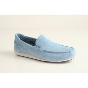 """Rockport style """"BL4 Venetian"""" in blue suede leather   (NT58)"""