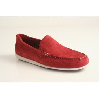 "Rockport style ""BL4 Venetian"" in red suede leather"