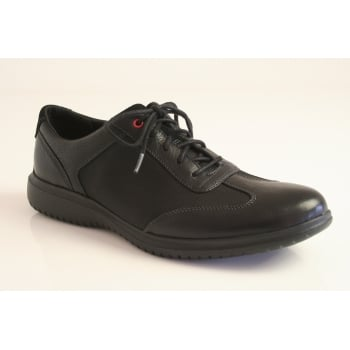 "Rockport style ""DP2 Fast T-Toe"" in black leather"