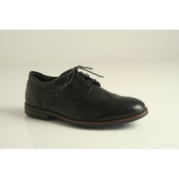 Rockport style 'Dustyn Wingtip'  in black leather   (NT79)