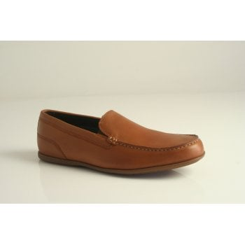 "Rockport style ""Malcom Venetian"" moccasin in tan leather  (NT69)"