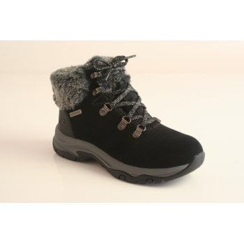 Skechers black lace-up waterproof ankle boot (NT44)