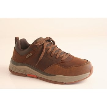 Skechers dark brown lace-up trainer style (NT4)