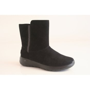 Skechers GoWalk Black suede ankle boots (NTB1)