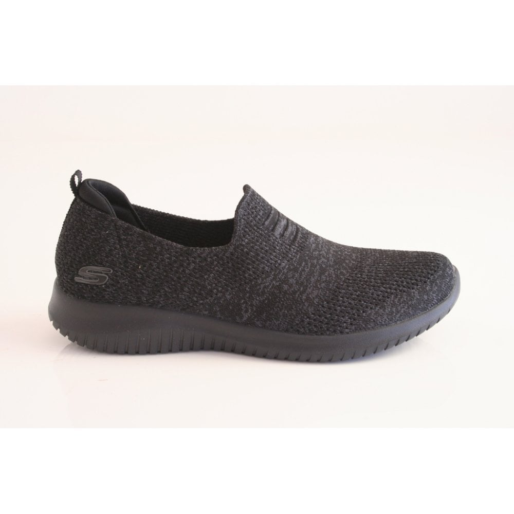 Repegar A menudo hablado Céntrico  Skechers Skechers Stretch-Knit Air Cooled Memory Foam Slip-on shoe in Black  - Skechers from Nicholas Thomson UK