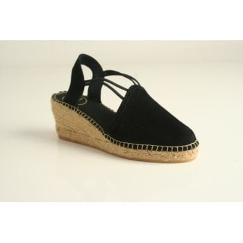 Toni Pons style 'Tremp' espadrille in black (NT23)