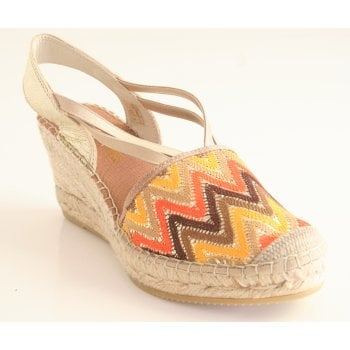 Vidorreta Autumnal Colours with Gold Leather Espadrille (NT 2)