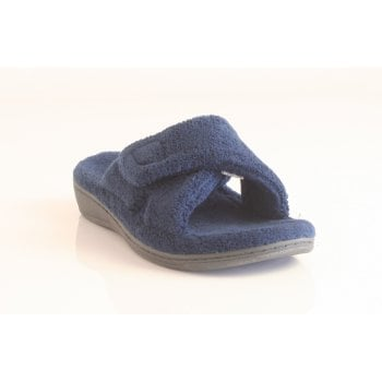 Vionic Ladies Indulge Relax Slippers in Navy (NT 5)
