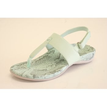 Vionic 'Tala' Pastel Mint Green Toe Post Sandal with velcro strap around ankle (NT 11)