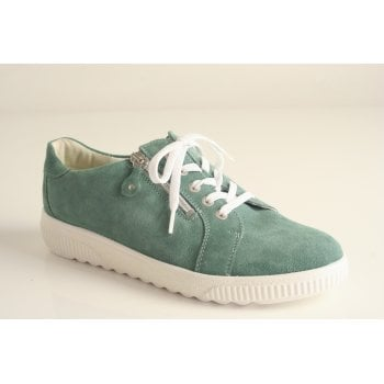 Waldlaufer mint coloured suede leather lace up (NT20)